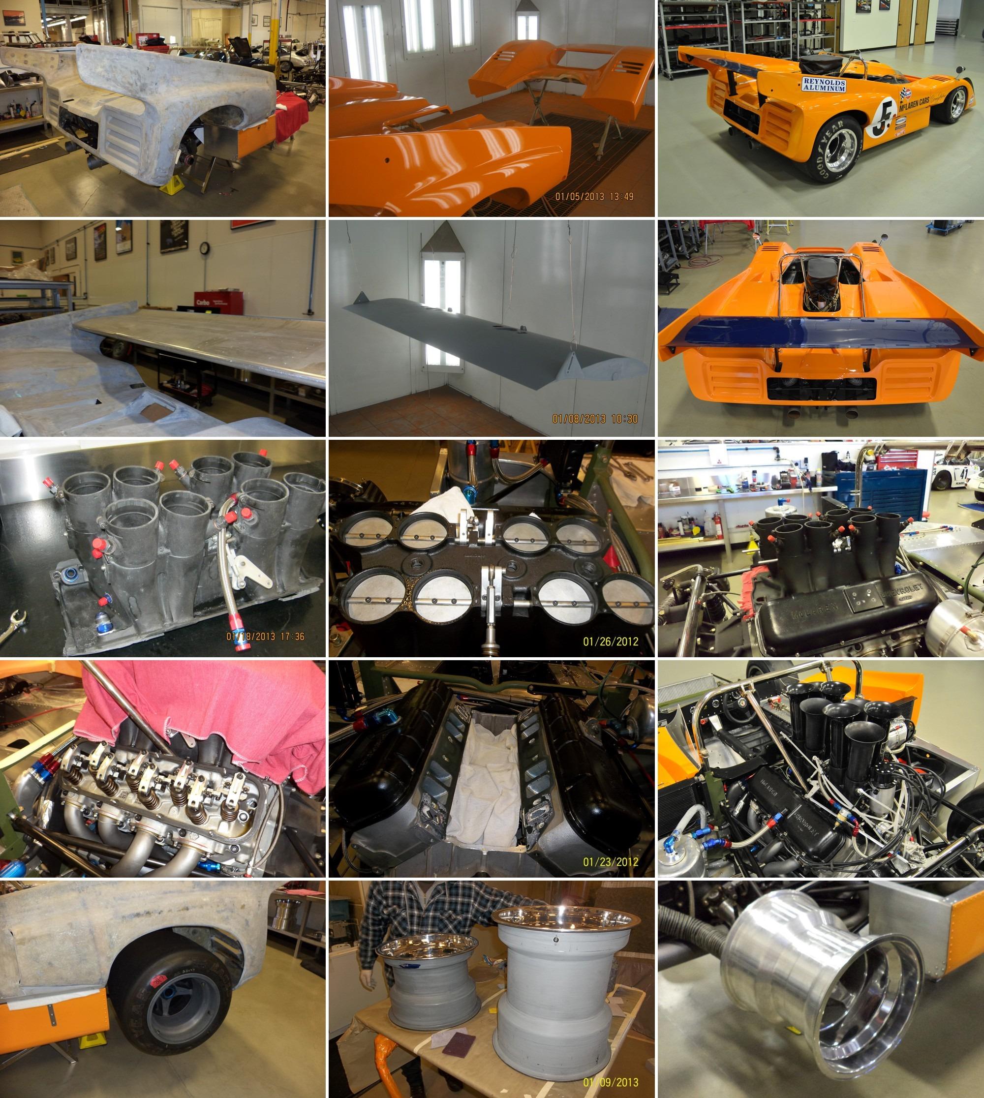 McLaren M8D restoration gallery